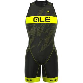 Alé Cycling Triathlon Olympic Record Herre Back Zipper Gul/Svart